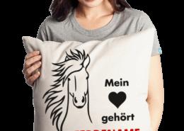 individuelles / personalisiertes Kissen mit Pferdenamen
