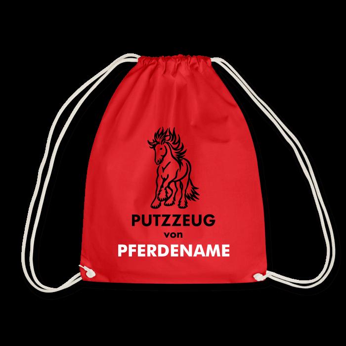 Putztasche mit Pferdename (Motiv Tinker / Friese)