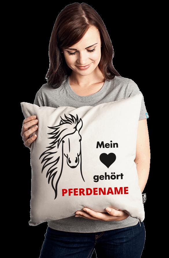 personalisiertes Kissen mit Pferdenamen