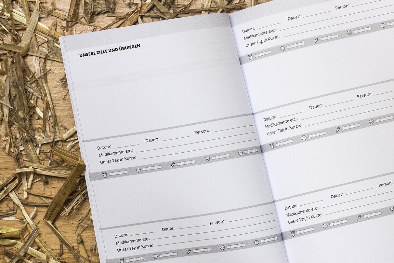 Im Reitertagebuch kannst du deine Ziele, Erfolge und schöne Erlebnisse mit deinem Pferd oder deiner Reitbeteiligung festhalten
